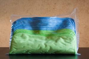 Pack de 15 serviettes Alchimy⁷ PRO7 bleues et vertes