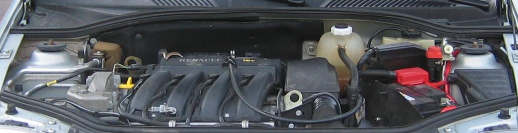 Compartiment moteur Renault Clio 1,6 l 16 s